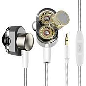 yinjw s1 듀얼 드라이버 시스템 스피커 hifi 저음 서브 우퍼 in ear 이어폰 earbud 전문 스테레오 모니터 이어폰 with 마이크