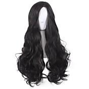 Mujer Pelucas sintéticas Sin Tapa Largo Rizado Negro Peluca de cosplay Las pelucas del traje