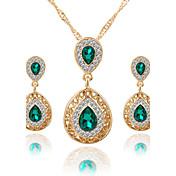 Mujer Juego de Joyas Collar / pendientes Los sistemas nupciales de la joyería Cristal Colgante Euramerican Joyería de Lujo Nupcial