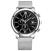 SINOBI Hombre Reloj Deportivo Reloj de Vestir Reloj de Moda Reloj de Pulsera Japonés CuarzoCalendario Resistente al Agua Cronómetro