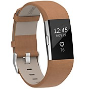 fitbit charge 2 개 밴드 leatherhenoda 교체 용 스트랩 fitbit charge 2-brown