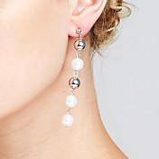 Mujer Pendientes Set Perla artificial Corazón Amistad Moda Personalizado Euramerican joyería película Chrismas Cobre Forma de Círculo