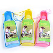 고양이 강아지 그릇&물병 애완동물 그릇 & 수유 휴대용 옐로우 블루 핑크