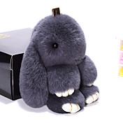Bolso / teléfono / keychain conejo del encanto conejo de la historieta rex del juguete piel los 19cm