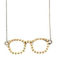 Brillengestell mit Niet Retro Halskette