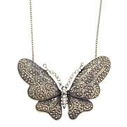 Diamant-Schmetterlings-Retro Halskette