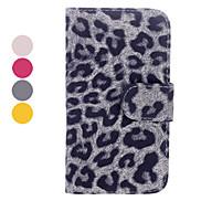 Leopard Print Leder Ganzkörper-Kasten mit Card Slot und Stand für Samsung Galaxy i9500 S4 (verschiedene Farben)