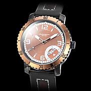 Men's Gold Case PU Leather Analog Quartz Wrist Watch (Assorted Colors)