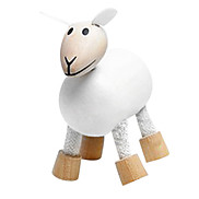 Kid's Wooden Sheep Model Toy (Random Color)