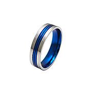 Fashion 316L Titanium Steel Men's Finger Ring - USA 10