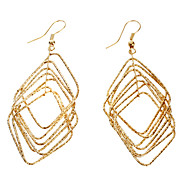Diamond Gold Metal Earrings