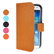 PU Leather Case with Magnetic Snap and Card Slot for Samsung Galaxy S4 Active I9295 (Assorted Colors)