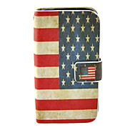 American Flog PU Full Body Case with Stand for Samsung Galaxy S4 I9500