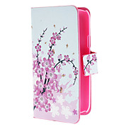 Mini Elegant Flower Pattern PU Leather Case with Magnetic Snap and Card Slot for Samsung Galaxy S4 mini I9190