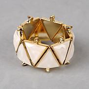 Colored Gems Rivet Triangle Bracelet