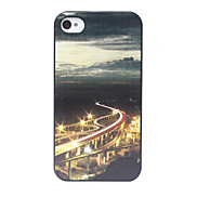 City's Beautiful Night Scene Pattern Back Case for iPhone 4/4S