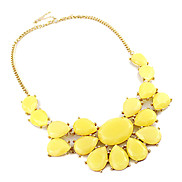 Exquisite Acrylic Candy Color Water-Drop Necklace(Assorted Color)