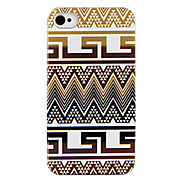 Originality Hand Paint Cloth Stripe Back Case for iPhone 4/4S