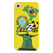 Brazilian Football Pattern Hard Case for iPhone 4/4S