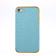 Deluxe Palace Embossed Leather Gold Frame Case for iPhone 4/4S