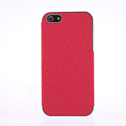 Purple 3D Leather Hard Cover Case Chrome frame Case For iPhone 5/5S