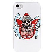 Handsome Smoke Skull Back Case for iPhone 4/4S