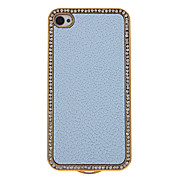 Luxury Bling Crystals Rhinestones PC Leather Case Cover for iPhone 4/4S