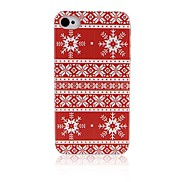 Red Folk Style Pattern Plastic Hard Case for iPhone 4/4S