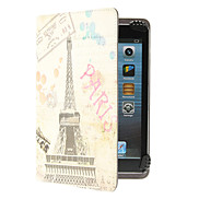 Retro Eiffel Tower Pattern Adjustable Clamp Style PU Leather Case Universal for Samsung 7.0&8.0 Inches Tablets