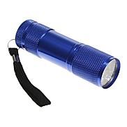 9 Light Textured LED 1 Mode Flashlight Camping Lamp (80 LM 3XAAA Blue)
