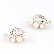 Fashion Boutique Sweet OL Diamond Pearl Earrings