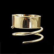 New Arrivals Gold Plated Unique Punk Style Women Metal Ring