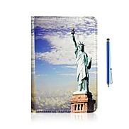 Statue of Liberty Design PU Leather Full Body Case with Stand and Capacitance Pen for iPad mini/ mini2
