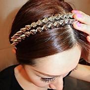 Rivet hair hoop punk hedgehog hair hoop silver