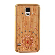 Elonbo Spider's Web Stick Wood Drill Point Hard Back Case Cover for Samsung Galaxy S5 I9600