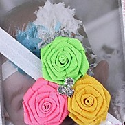 Children's Three Piece Rose Occident Hot Sale Headbands for Kids(Random Color)