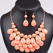 Fashion Colorful Oildrip  Silicone (Necklaces&Earrings&) Gemstone Jewelry Sets(More Color)
