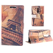 The Eiffel Tower Design PU Full Body Case with Card Slot for LG G3
