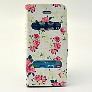 Rose Pattern PU Leather Full Body Case with Stand for iPhone 5/5S