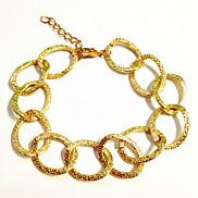European Big Chain 17cm Unisex Gold Alloy Chain & Link Bracelet(1 Pc)