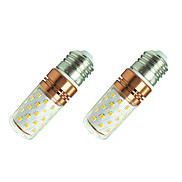 8W LED Corn Lights E27 60 SMD2835 800 Lm White/Warm White AC85-265V 2Pcs
