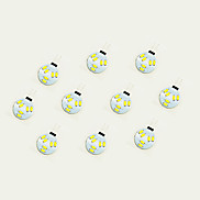 1W LED Crystal Light G4 6SMD 5630 White/Warm White DC12V 10Pcs