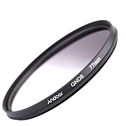 Andoer 77mm Circular Shape Graduated Neutral Density GND8 Graduated Gray Filter for Canon Nikon DSLR Camera