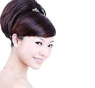 Synthetic Hairpiece - Dark Coffee Straight Ponytail Wrap