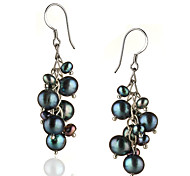 Drop Earrings Women's Sterling Silver Earring Pearl