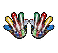 Multi-color LED Flashing Fibre Optics Finger Lights (6-Pack)