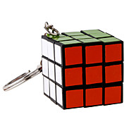 Giocattoli Cubi 3*3*3 Con portachiavi magic Toy Smooth Cube Velocità Magic Cube di puzzle Nero Plastica