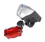 Bike Lights LED Kit  5-LED Front Light + 6-LED Tail Light (5xAA)