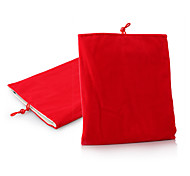 caja de la bolsa de tela suave protector para 1/2/3/4 ipad y otros (rojo)