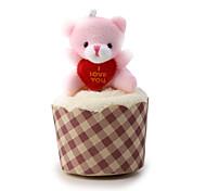 dolce disegno orso mini asciugamano di cotone per valentine / party / regalo di nozze